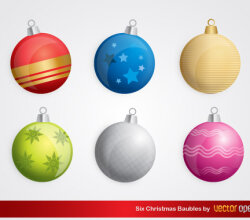 Free Christmas Baubles Vector Illustration
