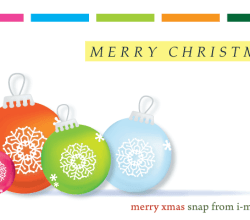 Colorful Christmas Balls Ornaments Vector