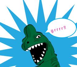 Vector Cartoon T Rex
