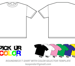 Round Neck T-Shirt Template Vector Illustrator Pack