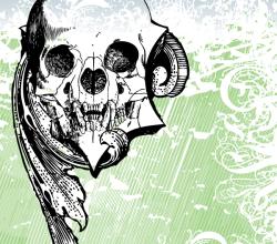 Money Skull Vector Art