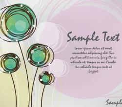 Doodle Flowers Card Design Free Vector Background