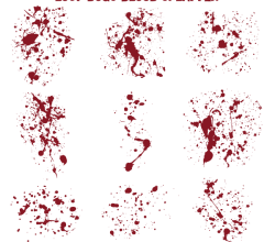 Blood Splatter Vector Illustrator