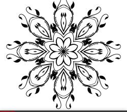 Vector Ornate Decorative Element Clip Art Image