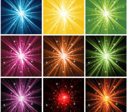 Light Rays With Sparkles Background