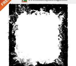 Free Grunge Border Frames Vector