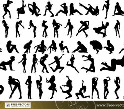 Free People Silhouettes Vector