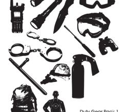 Police Duty Gear Vector Pack