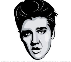 Elvis Presley Portrait Vector Image