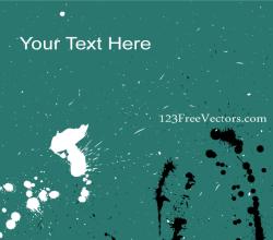 Vector Ink Splatter Background Banner Design