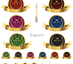 Gold Label Vector Graphics
