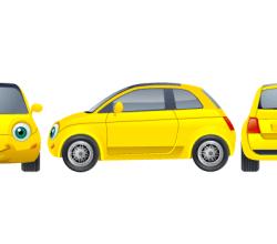 Vector Yellow Car