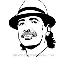 Carlos Santana Vector Image
