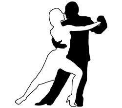 Couple Dancing Tango Silhouettes Image