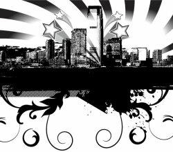 Free City Skyline Vector