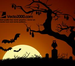 Halloween Haunted Dark Nights Background Vector