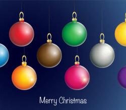 Vector Christmas Ball Ornaments