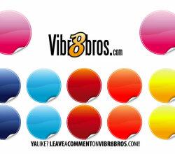 Color Stickers Vector