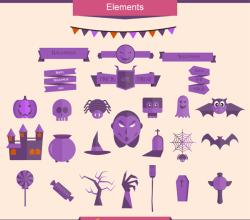 Flat Halloween Vector Graphics
