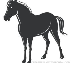 Horse Silhouette Clip Art Graphics