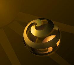 Vector Background Design with Golden Sphere