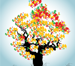 Abstract Tree Colorful Background