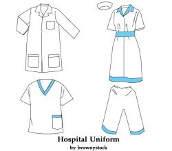 Hospital Uniform Template Free Vector