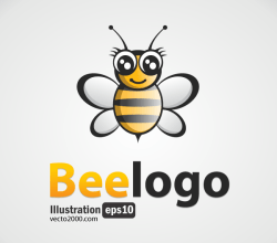 Bee Logo Free Vector Image