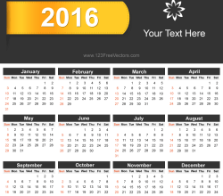 Free Download 2016 Calendar