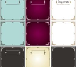 Vector Ornament Swirl Border Design Frames