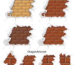 Free Vector Brick Plaster Wall