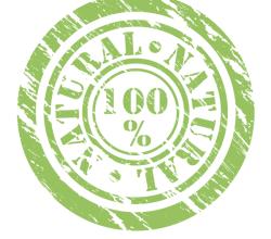 100% Natural Stamp Vector