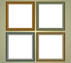 Classic Frames Vector Art