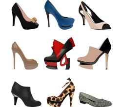 Stylish Women Shoes Free Vector