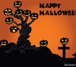Halloween Spooky Tree Vector Free