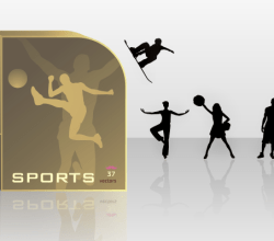Athletes Silhouettes Free Vector Set