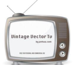 Vintage TV Vector Art