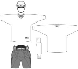 Hockey Uniform Template Free Vector
