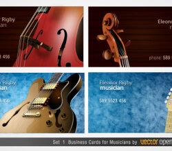 Musicians Business Cards Designs