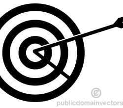 Vector Arrow Hitting in the Target