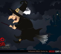 Halloween Witch Vector Illustration