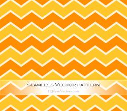 Orange and Yellow Seamless Chevron Pattern Background