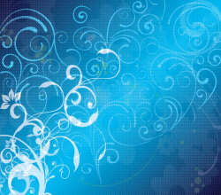 Abstract Blue Floral Vector Background Design