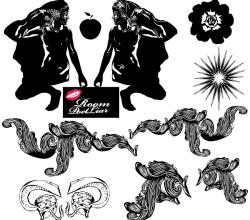 Vector Black White Illustrator Pack