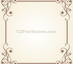 Vintage Ornate Frame Border Design Vector