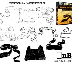 Free Scroll Vector Illustrator Pack