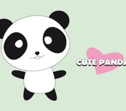Vector Cute Panda