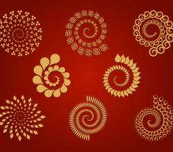 8 Spirals – Free Vector Set
