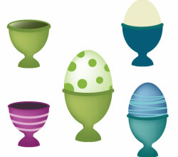 Happy Easter Free Vector Eggs