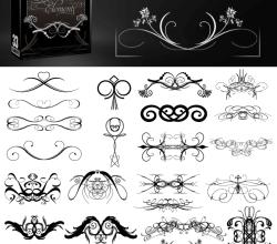 Vectors Decorative Elements Brushes Pack